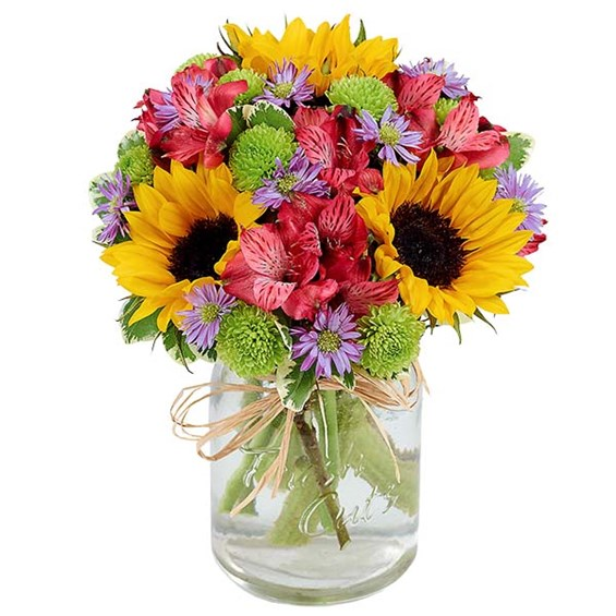 Flower Fields Mason Jar (BF375-11KM)